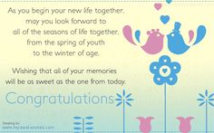 Wedding Wishes for a Newly Married Couple: Examples of Wedding Wishes and Greetings