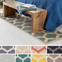 Porch & Den Henderson Hand-Tufted Trellis Wool Rug x Runner - Beige) Trellis Pattern, Wool Runners, Hand Tufted Rugs, Carpet Stains, Cool Rugs, Online Home Decor Stores, Rugs Online, Unique Colors, Outdoor Rugs