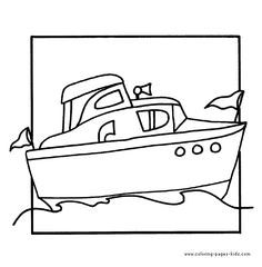 Boat Color Page Transportation Coloring Pages Plate Sheetprintable