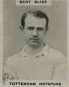 Bert Bliss of Tottenham Hotspur in 1921.