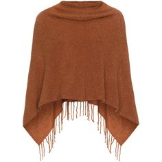 Samoon Orange Plus Size Fine knit fringed poncho ($61) ❤ liked on Polyvore featuring outerwear, poncho, tops, coats, jackets, sweaters, orange, plus size, brown poncho and wrap poncho