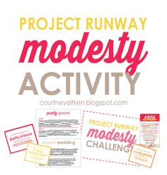 Young Women Activity : Project Runway Challenge - All Things Bright and Beautiful