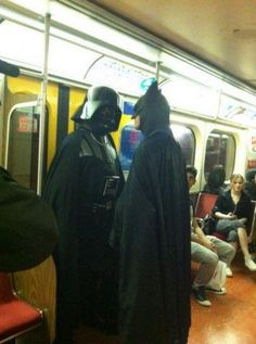 Stuff just got real on the subway.