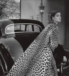A showstopping full length ocelot coat designed by Berger. Vintage fashion 1950s coat
