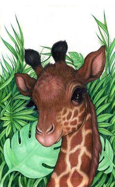 Robin james cutesy в 2019 г. animal drawings, giraffe art и Giraffe Drawing, Giraffe Painting, Giraffe Art, Cute Giraffe, Giraffe Pictures, Animal Pictures, Cute Pictures, Animals And Pets, Baby Animals