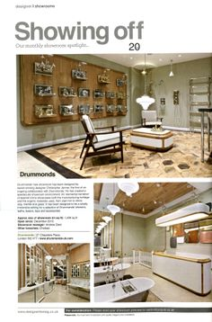 Drummonds open second London showroom in Notting Hill, designed by the award winning Christopher Jenner drummonds-uk.com Designer Magazine March 2014