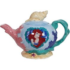 Disney Princesses Little Mermaid Pearl of the Sea Teapot - Westland Giftware - Disney Princesses - Dining and Entertaining at Entertainment Earth Westland Giftware, Disney Cookies, Mermaid Images, Disney Princess Ariel, Disney Princesses, Disney Kitchen, Disney Mugs, Teapots And Cups, Teacups