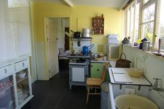 Kitchen in the last remaing dwelling at the Dunton Plotlands, preserved as a museum. (Essex, north of London)
