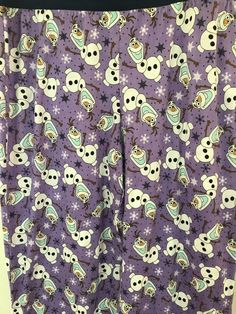 Womens Sz L Disney Frozen Olaf Pajama Snowman Pants Snowflakes Purple #Disney #LoungePants #Everyday
