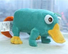 """Disney Phineas & Ferb Perry The Platypus so soft Plush 12"""" For Kids X'mas Gift"""