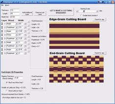 Cutting Board Design software (CBdesigner)