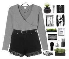 """""""older // plainer // saner"""" by centurythe ❤ liked on Polyvore featuring Monki, Miss Selfridge, Dot & Bo, H&M, Edward Bess, Areaware, Lux-Art Silks, NARS Cosmetics, Topshop and Sephora Collection"""