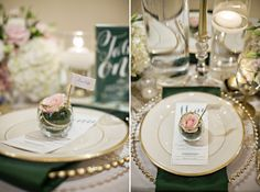 holiday gold tablescape
