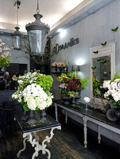 Odorantes, St Germain, Paris. Clients of the flower boutique include Catherine Deneuve, Karl Lagerfeld and Sofia Coppola.