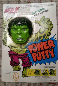Marvel-The-Incredible-Hulk-Power-Putty-Italian-packaging-1979-rare