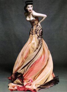 Dita - Harper's Bazaar Japan ~ amazing dress!