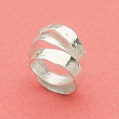 Apple peel adjustable silver ring - Japanese fruits - Apple curling ...