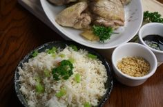 How to make Hainanese Chicken with Chicken Rice,Singapore-style on http://asianinamericamag.com