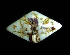 60s Lucite Dried Flower Brooch Pin Vintage by PopcornVintageByTann