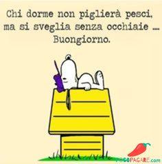Immagini Belle Di Buongiorno - Pocopagare.com Snoopy Cartoon, Snoopy Love, Medical Humor, Peanuts Snoopy, Day For Night, More Than Words, Good Mood, Vignettes, Einstein
