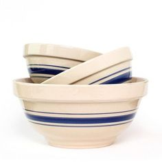 Striped Mixing Bowls.