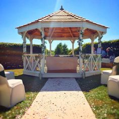 Say your vows in the The Granary Hotel & Restaurant's idyllic gazebo, for the perfect ceremony setting.