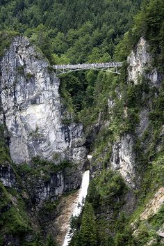 Mary's Bridge, Fussen, Germany. This is the view of the bridge you see from Neuschwanstein Castle.