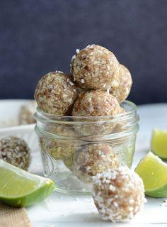 Lime Coconut Energy Bites - Vegan, Gluten-Free, No Added Sugar