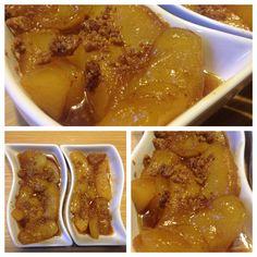 Crumble de pommes caramélisées - d'après une recette du blog C'est ma fournée