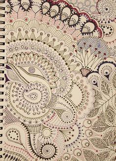 Subtle colors  #doodle #pattern