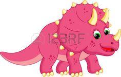 triceratops: Dinosaurio de dibujos animados Vectores