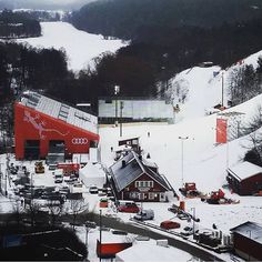 Hammarby Backen is the backyard of the Park Inn Hammarby Sjöstad. It is also the location for the 2016 FIS Alpine World Cup. Looking out over the brand new stands and all preparations going on around the ski slope. #wcsthlm #fisalpine #alpineworldcup #hammarbybacken #hammarbysjöstad #parkinn #parkinnstockholmhammarby @worldcupstockholm