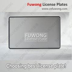 Truck registration plate by vehicle manufacturer