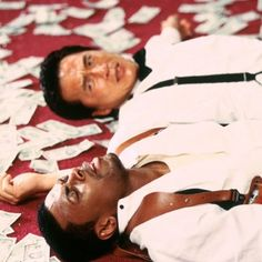 """Jackie Chan and Chris Tucker in """"Rush Hour""""- 1998 Jackie Chan, Hora Do Rush, Cops Tv, Chris Tucker, Excellent Movies, Penn Badgley, Rush Hour, People Talk, Executive Producer"""