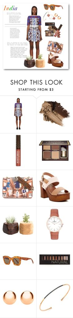 """Untitled #571"" by lashone-kelly ❤ liked on Polyvore featuring Peter Pilotto, Burt's Bees, Too Faced Cosmetics, Love Moschino, Musse & Cloud, CÉLINE, Forever 21, IBB and Diane Kordas"