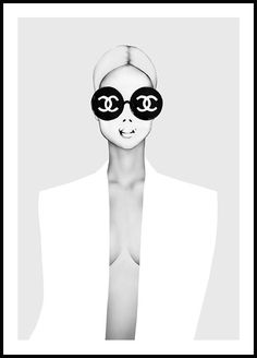 """Fun fashion poster with the quote: """"I don't do fashion. A poster with a strong attitude, perfect for a gallery wall. Art Chanel, Chanel Wall Art, Chanel Logo, Prada Marfa, Fashion Artwork, Fashion Wall Art, Fashion Posters, Fashion Wallpaper, Fashion Painting"""