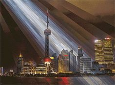 Shanghai Oriental Pearl Sunrise, 2014. (Gif) All Rights Reserved. 4MB