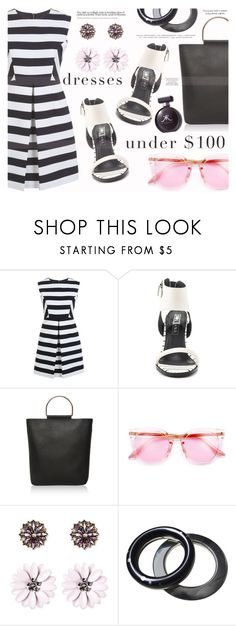 """""""Dresses Under $100-II"""" by katarina-blagojevic ❤ liked on Polyvore featuring Miss Selfridge, Sol Sana, Topshop and SUGARFIX by BaubleBar"""