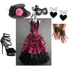 Isidora's full outfit and accessories for the Masquerade Ball.
