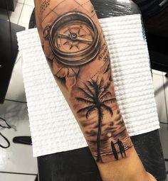 b compass travel traveltattoo compass tattoo tatua # compass … – surfing - SURFING Tatau Tattoo, Forarm Tattoos, Tattoo On, Forearm Tattoo Men, Finger Tattoos, Body Art Tattoos, Small Tattoos, Tattoos For Guys, Wolf Tattoo Sleeve
