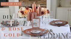 DOLLAR TREE MARBLE & ROSE GOLD WEDDING | DIY MARBLE & ROSE GOLD WEDDING DECOR - YouTube