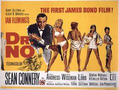 October 5, 1962 – Dr. No, the first in the James Bond film series, is released.