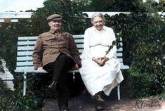 Sovyetler Birliği'nin kurucusu Vladimir Lenin ve eşi Nadejda Krupskaya, 1922.