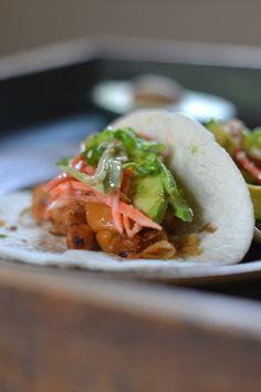 Thai Chickpea Tacos, an easy, fun,  healthy, weeknight meal!