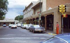 35mm Slide Albuquerque Street Scene Cars New Mexico 1971 Kodachrome Original