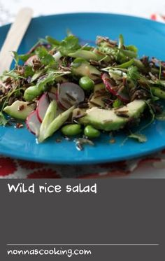 Wild rice salad        This delicious wild rice salad recipe is perfect for picnics, barbecues or lunchboxes. Each serving provides 331kcal, 8g protein, 35g carbohydrate (of which 1.5g sugars), 16g fat (of which 3g saturates), 6g fibre and 0.1g salt.