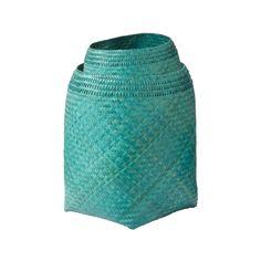 """S/2 Blue Lagoon Woven Baskets SIZE 8""""l x 8""""w x 13""""h  12""""l x 12""""w x 18""""h"""