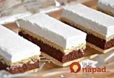 Kata szelet Hozzávalók 12 főre A tésztához: 60 dkg finomliszt 18 dkg… Hungarian Desserts, Hungarian Cake, Hungarian Recipes, Sweet Desserts, Sweet Recipes, Cake Recipes, Dessert Recipes, Sweet Cookies, Cake Cookies