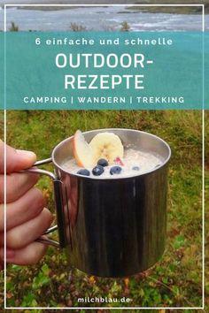 6 einfache und schnelle Camping Rezepte für Outdoor & Trekking Touren. Unsere liebsten Outdoor- und Camping Rezepte für den Gaskocher. Ideal für lange Trekking- oder Wander-Touren sowie Camping Trips.