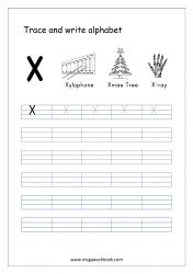 English Worksheet - Alphabet Writing - Capital Letter X English Alphabet Writing, Alphabet Writing Practice, Alphabet Tracing Worksheets, Alphabet Templates, Tracing Letters, Free Printable Worksheets, Writing Worksheets, Learning Letters, Printables